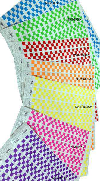 "Custom 1"" Tyvek Paper Wristband Checkers"