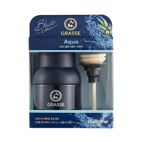 Bullsone Grasse Diffuser BLUE - Aqua (100ml/3.38oz) - Korean PKG