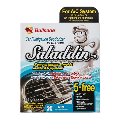 Bullsone V 2018 / Saladdin Car Fumigation Deodorizer Mint for A/C System 165g