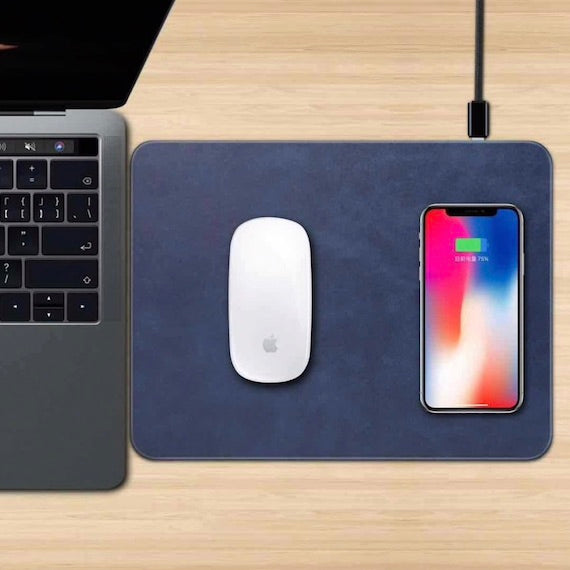 Wireless Charging Desk Mouse Pad