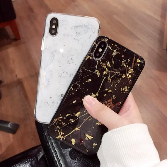 Gold Foil Marble iPhone X Case