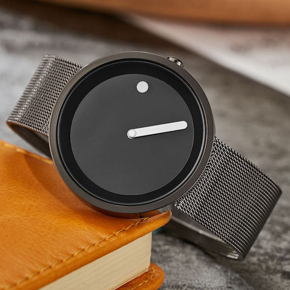 Minimalist Dot and Line Wristwatch