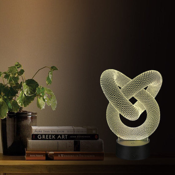 3D Table Night Light with Optical Illusion