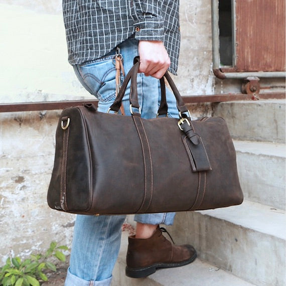 Handmade Leather Men's Handbag