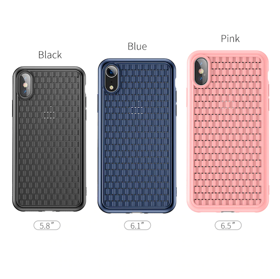 Luxury Grid-Pattern Soft Silicone iPhone Xs Case