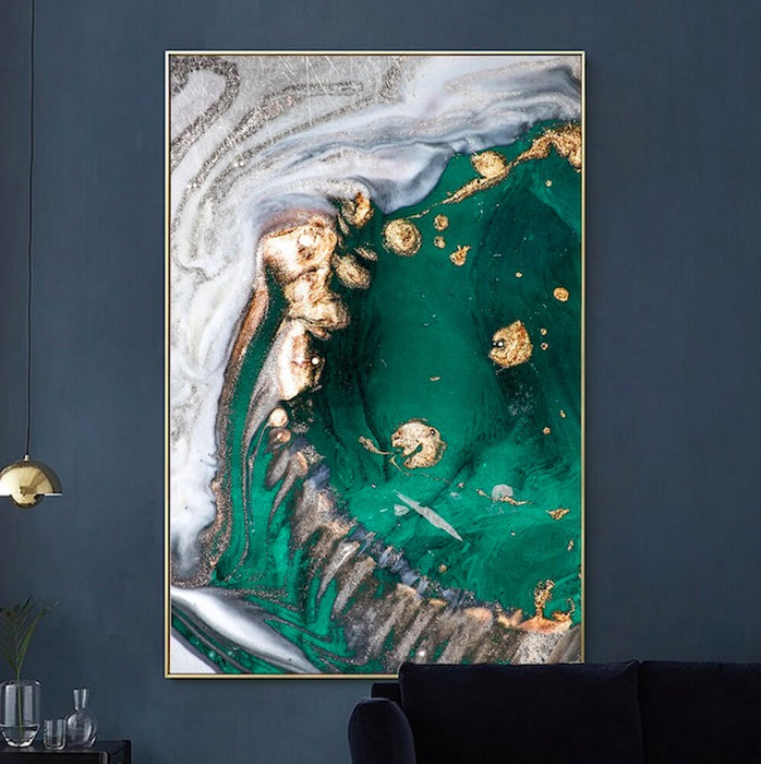 Abstract Gold Foil HD Poster