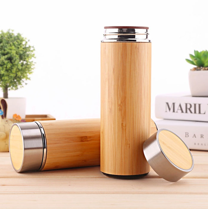 Bamboo Vacuum-Sealed Thermal Mug