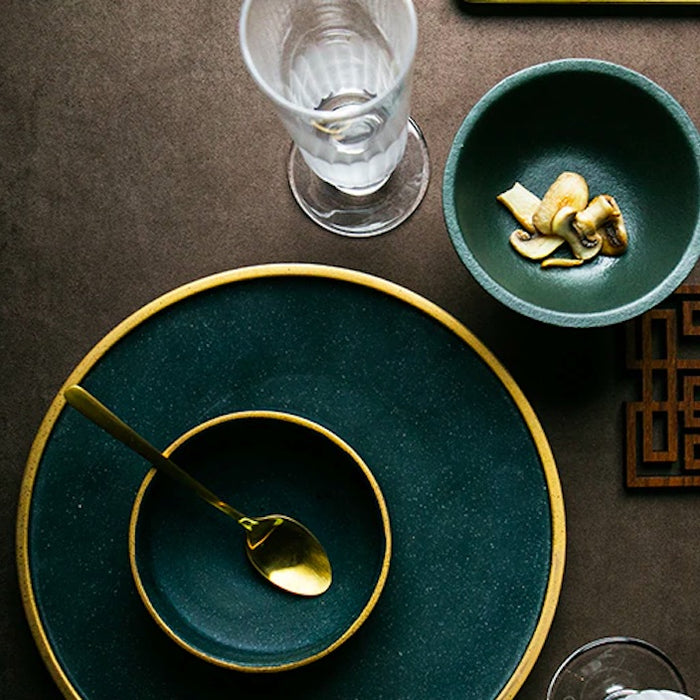 Ceramic Gold Inlay Dining Dishes