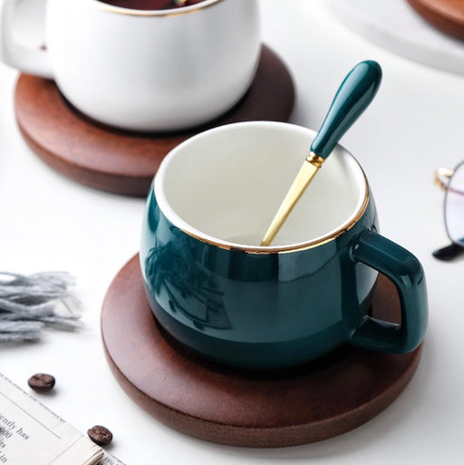 Ceramic Coffee Cup and Saucer