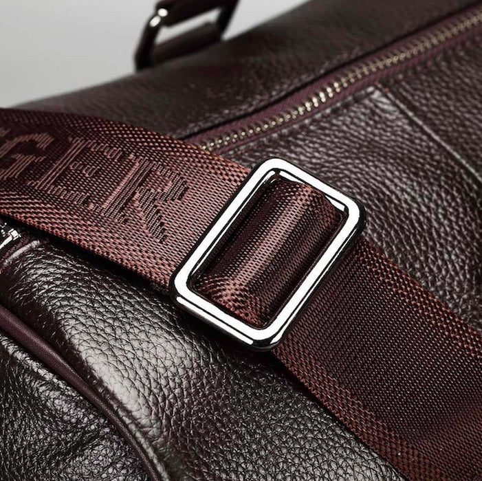 Feger Genuine Leather Travel Duffle Bag