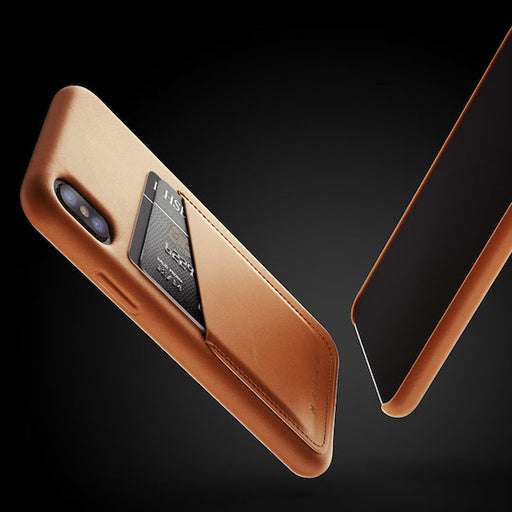 iPhone X Full Leather Wallet Case by Mujjo