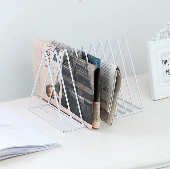 Geometric Minimalist Iron Magazine Rack