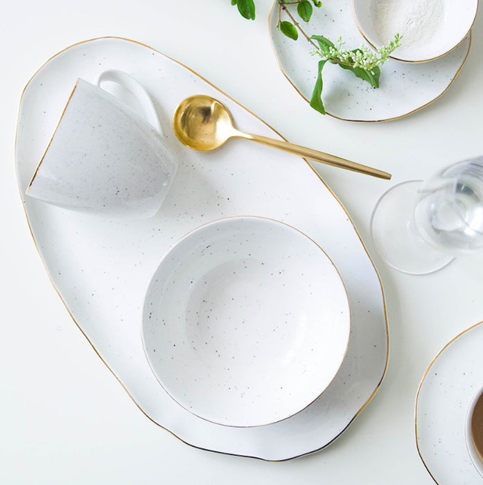 Gold Rim Ceramic Dishes