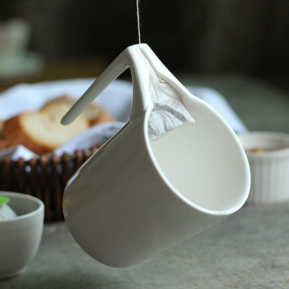 Creative Ceramic Mug with Tea Bag Holder