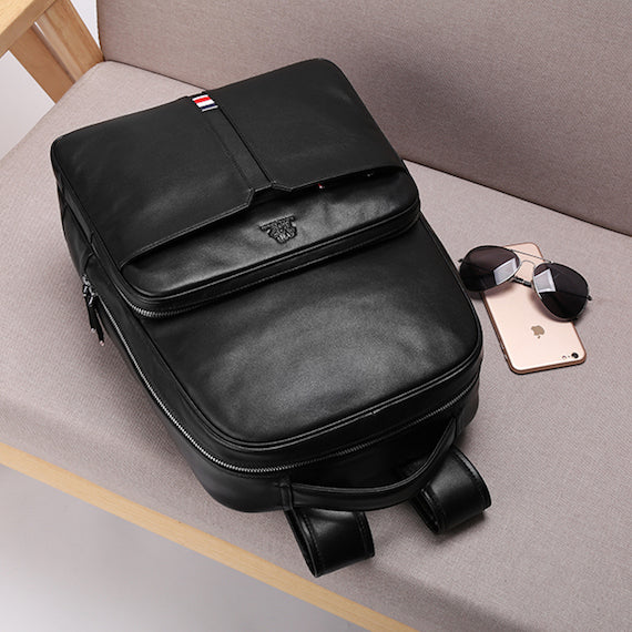 Genuine Leather Business Backpack