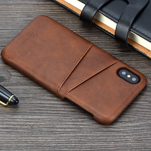 Luxury iPhone X Wallet Cover