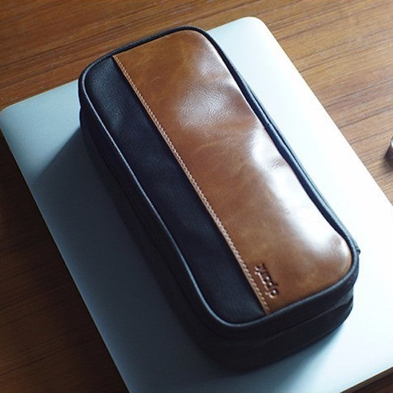 Leather Cable Storage Bag