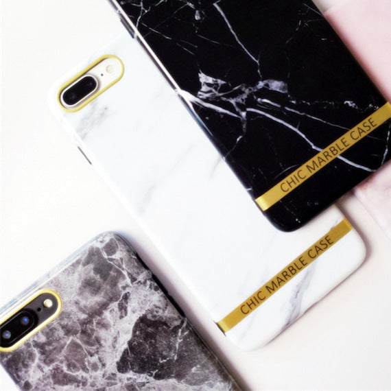Glossy Marble TPU iPhone Case