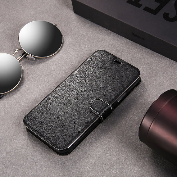 iPhone X Flip Leather Case