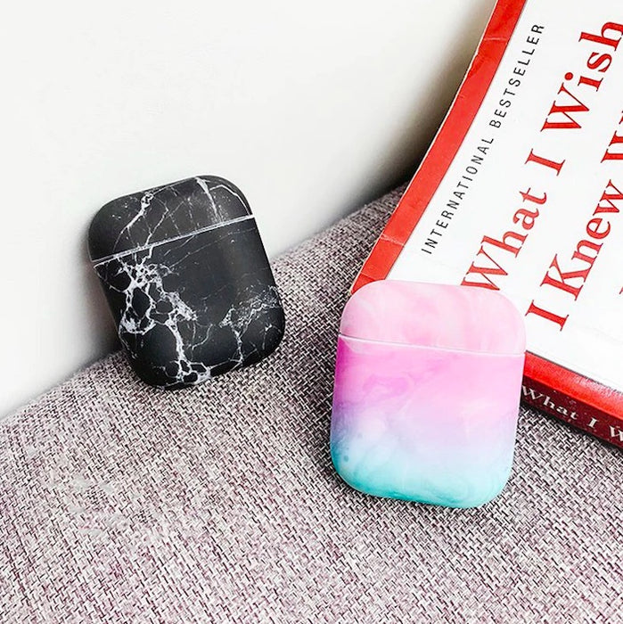 Protective Marble Apple AirPods Case