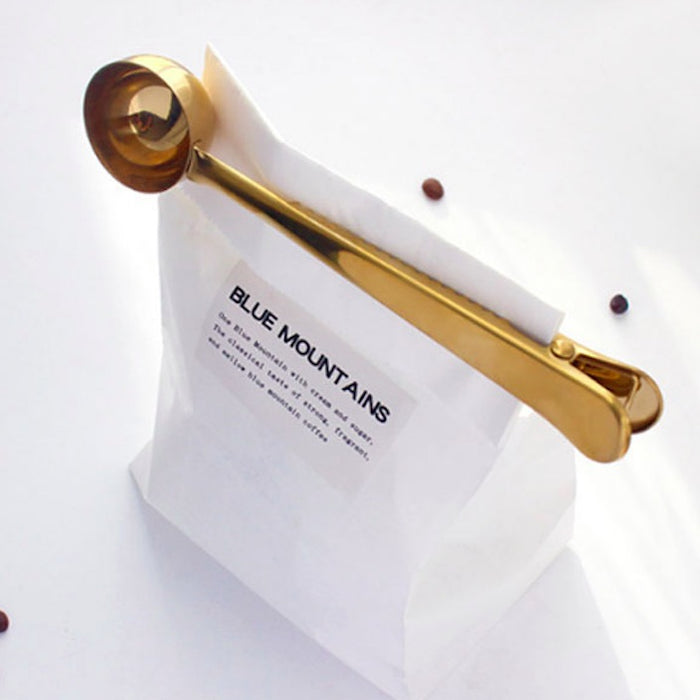 Minimalist Gold 2-in-1 Spoon Bag Clip