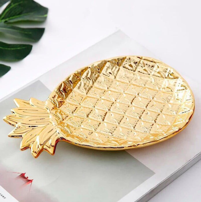 Modern Gold Pineapple Valet Tray