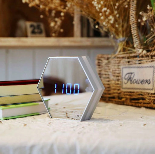 Multi-Function LED Mirror Alarm Clock