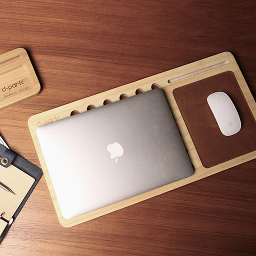 Natural Bamboo MacBook Stand