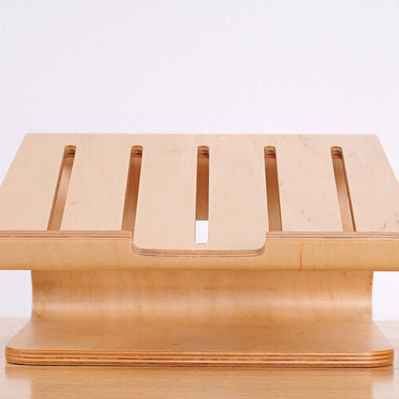 Real Birch Wood Stand for MacBook