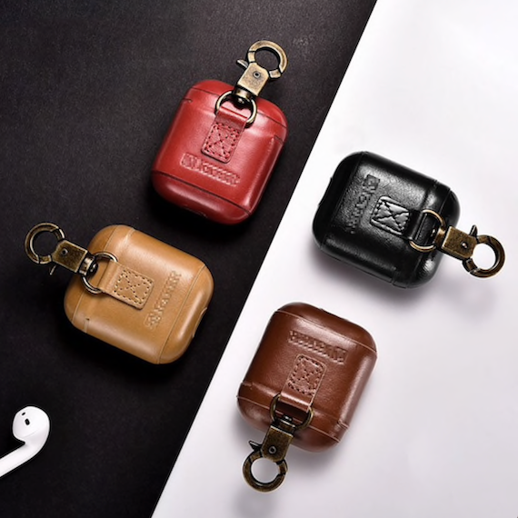Leather Apple Airpods Compact Case