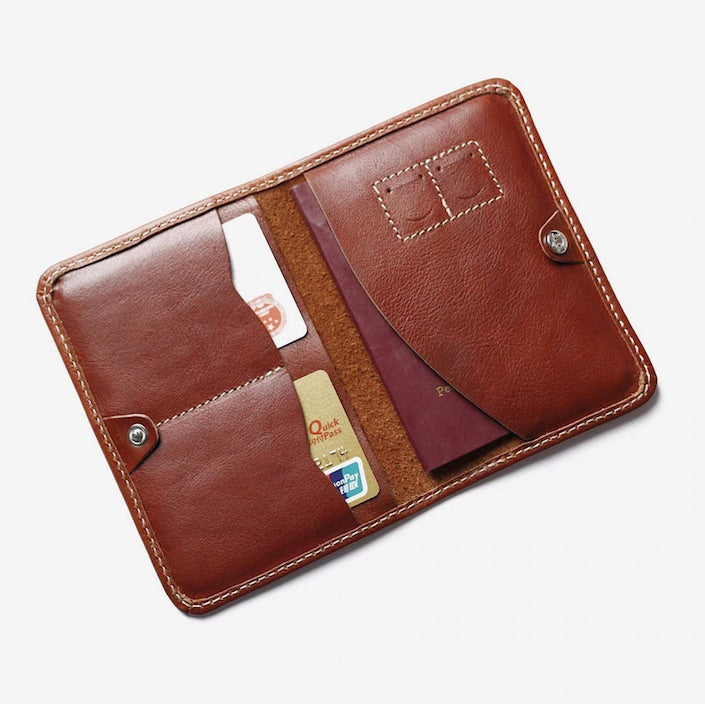 Slim Real Leather Passport Holder
