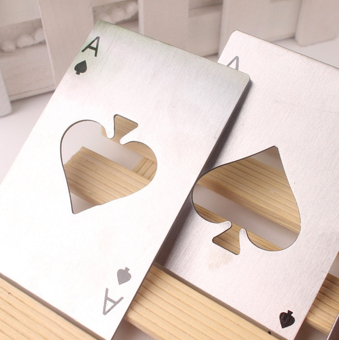 Steel Playing Card Bottle Opener