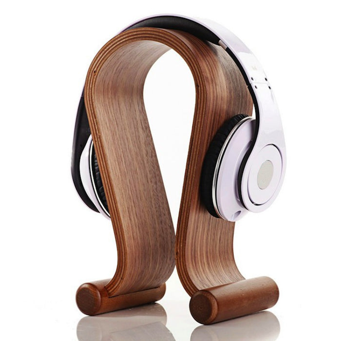 Wooden Omega Headphone Stand