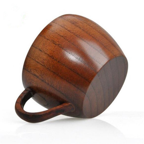 Wooden Tea Cup Shaped Beer Mug