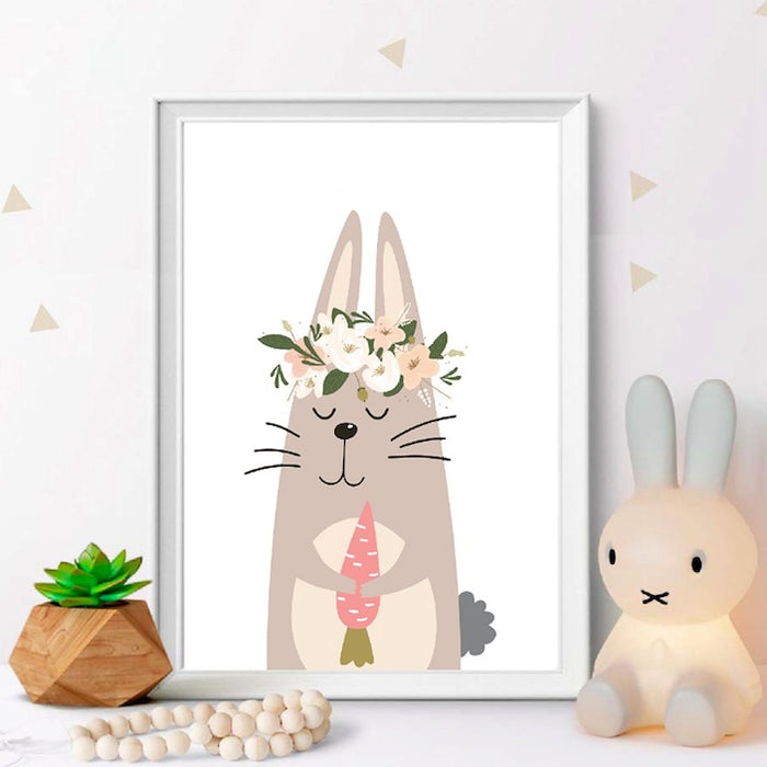 Animals Pastel Nursery Prints