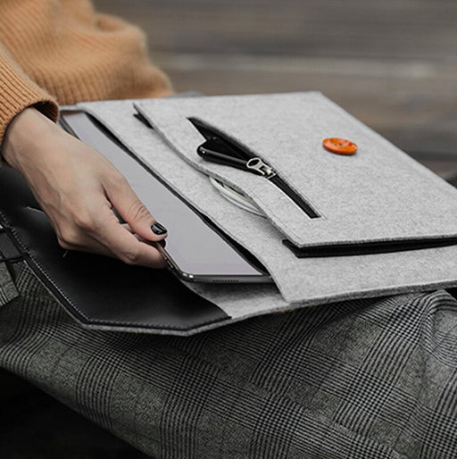 Wool Felt Protective Laptop Sleeve