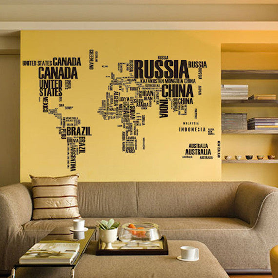 world map Wall Stickers sale