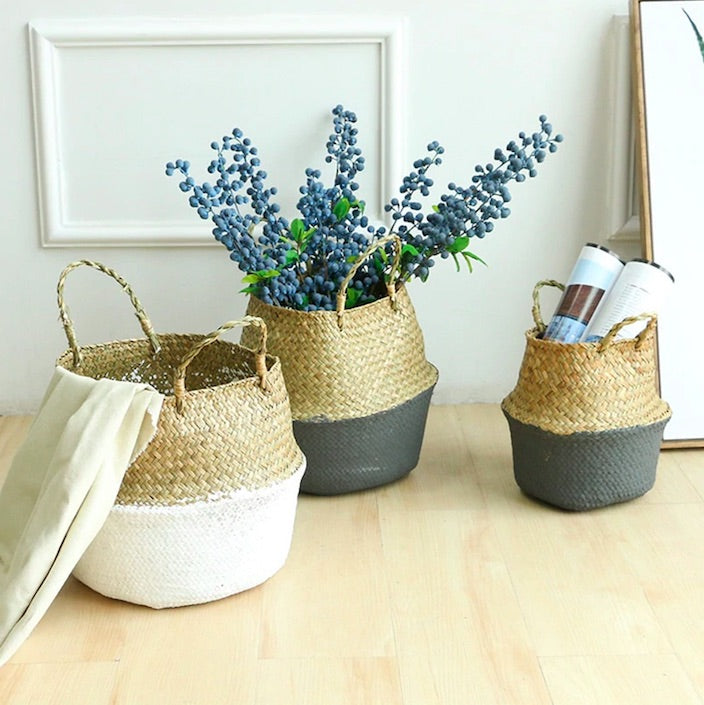 Seagrass Wicker Storage Baskets