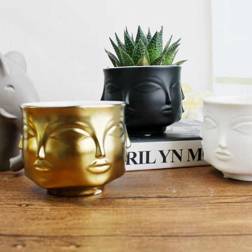 Face Ceramic Flower Pot