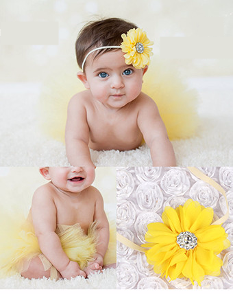 Flower head band tutu princess baby photography party tutu summer