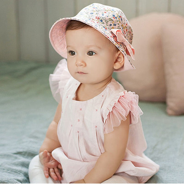 Reversible Sun Hat With Detachable Bow - Free Shipping