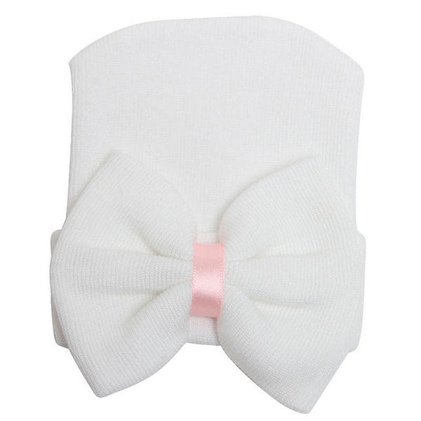 Beanie hat with bow newborn beanie cotton knit beanie baby beanie baby products baby clothes