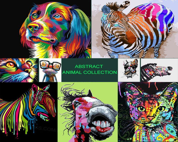 Adult Paint By Numbers Painting Adult Animal Print Paint By Numbers Cool things for adults