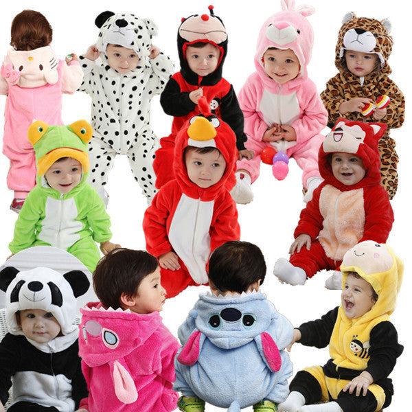 Boys and Girls 3D Cartoon Animal Jumpsuit Multiple Animals -  - 1