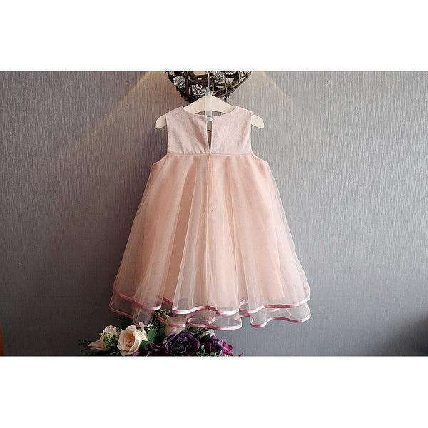 Sleeveless Princess Dress girls fashion party dress flower girl dress special occasion wear dress up floral