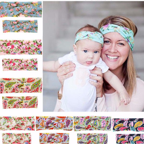 Matching Mum & Baby Headband cross knot headband matching hair accessories fashion hairband