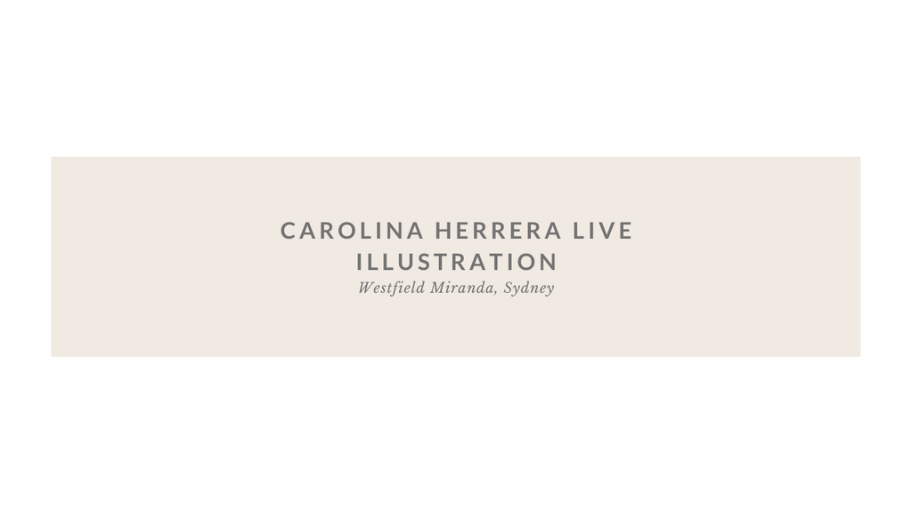 Carolina Herrera Live Illustration at Westfield Miranda, Sydney