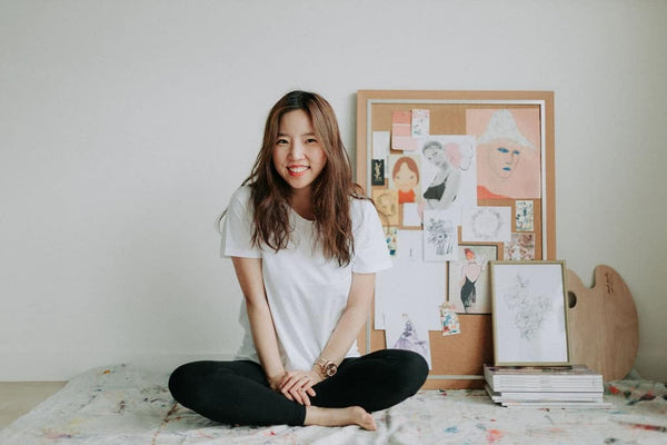 How to create an inspirational Moodboard with Sydney Illustrator Grace from Alittlebitebygrace.