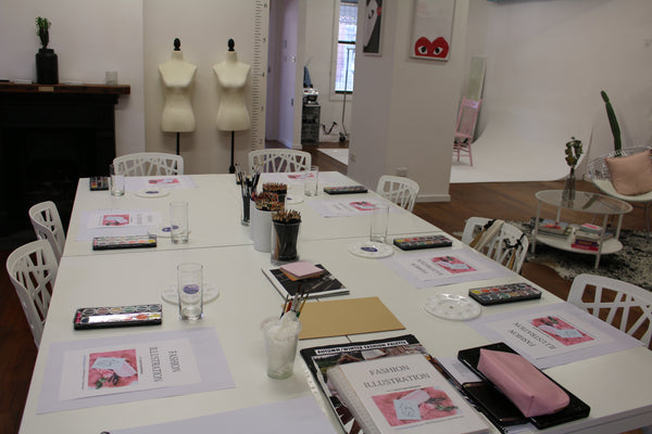 Hunter Fashion Institute New Castle Alittlebitebygrace Fashion Illustration Workshop