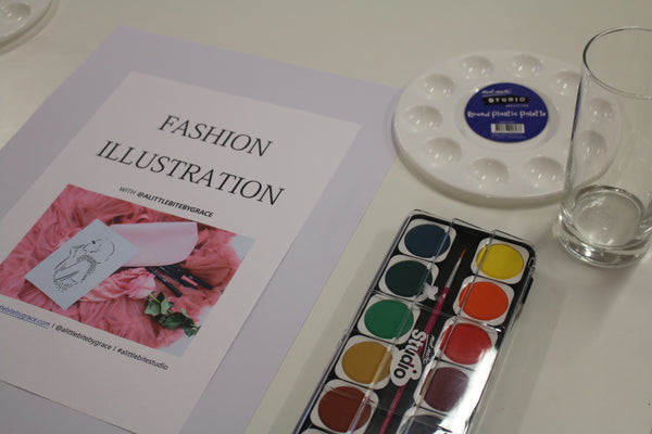 Hunter Fashion Institute of Fashion New Castle Sydney Illustrator Alittlebitebygrace Fashion Illustration Workshop